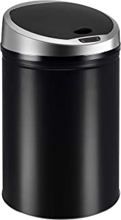 Ribelli automatische sensor afvalbak Roestvrijstalen afvalbak 30 40 50 60L, kleur:zwart, volume:60 liter