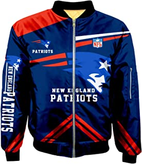 Bomber Jackets Men Big Size Football Classic Jacket Autumn Winter Outdoor Long Sleeve Full Zipper Jacket Outerwear Coat