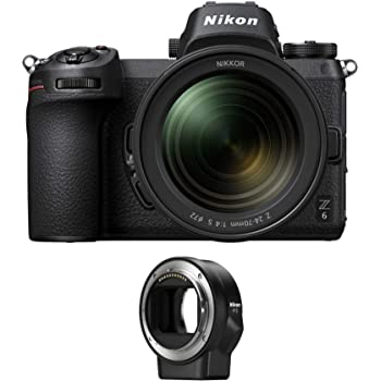 Nikon Z6 Mirrorless Camera with 24-70mm f/4 S Lens and Mount Adapter FTZ