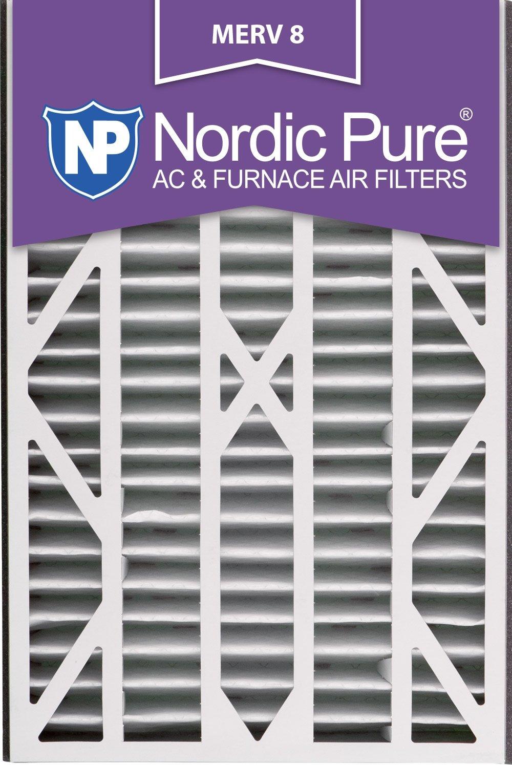 Nordic Pure 16x25x3ABM8-1 Merv 8 AC 炉灶过滤器