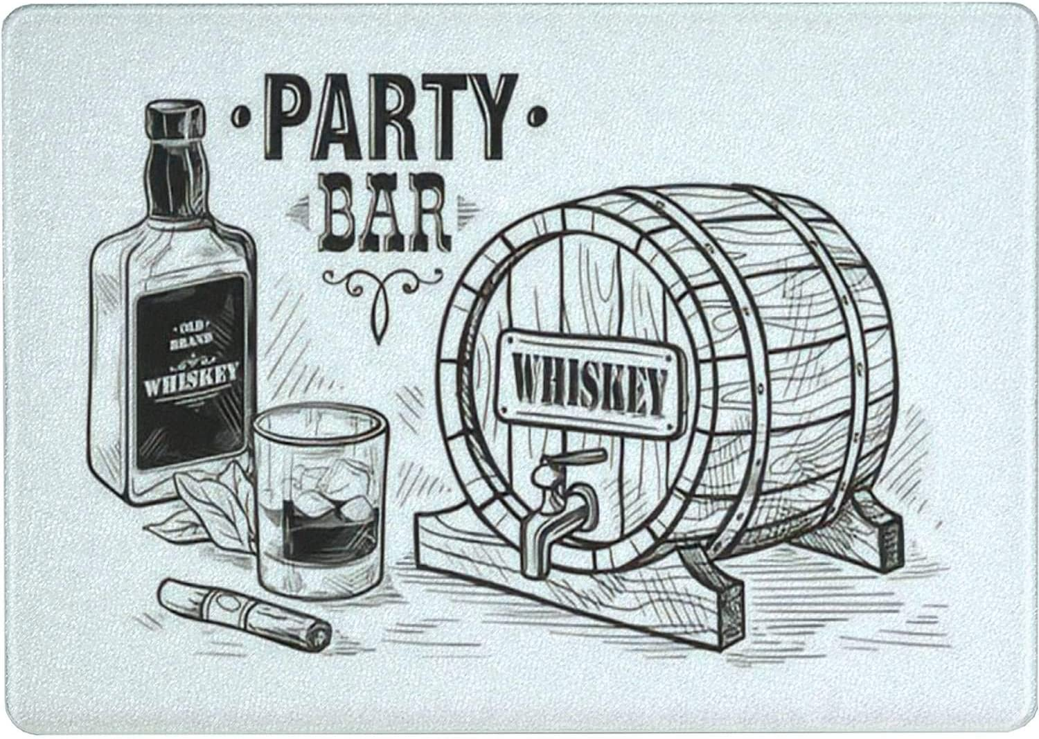 Tempered Glass Cutting Board Bottle Whiskey Manufacturer direct delivery Year-end annual account Sketch and