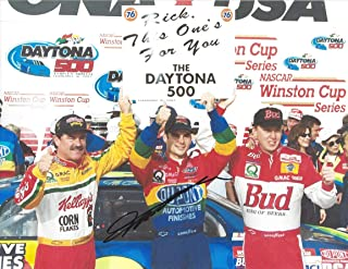 AUTOGRAPHED 1997 Jeff Gordon #24 DuPont Racing DAYTONA 500 RACE WIN (Victory Lane Team Celebration) Hendrick Motorsports Vintage Signed Collectible Picture 9X11 Inch NASCAR Glossy Photo with COA