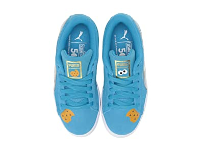 Puma Kids Sesame Street 50 Suede Statement (Little Kid) (Bleu Azur/Puma White) Kids Shoes