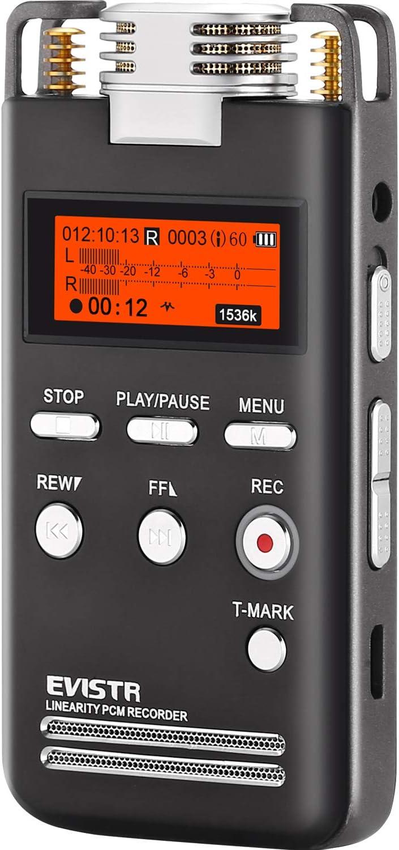 EVISTR Directly managed store Digital Voice Recorder 8GB Stereo L53-1536KBPS Superlatite Audio Reco
