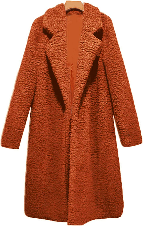 YMING Damen Warm Gefütert Mantel Lange Jacke Winter Parka Steppjacke mit Kapuze Mantel mit Kunstpelz Kragen A-karamell