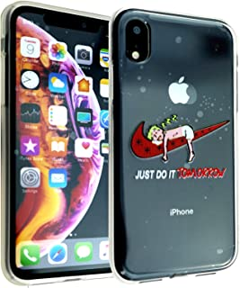 iPhone XR Case Just Do It Tomorrow, IMAGITOUCH Anti-Scratch Shock Proof Clear Case Soft Touch Slim Fit Flexible TPU Case Bumper Cover for iPhone XR- Just Do It Tomorrow Bumper