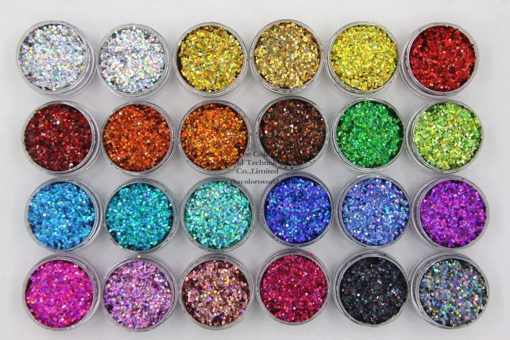 Gabcus 24 Holographic 70% OFF Outlet Colors Round Dot Size Glitter Popular standard Shape fo 1MM