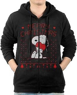 LetBiBi Hoodie Sweatshirt Men's Snodog Merry Christmas Long Sleeve Zip-up Hooded Sweatshirt Jacket
