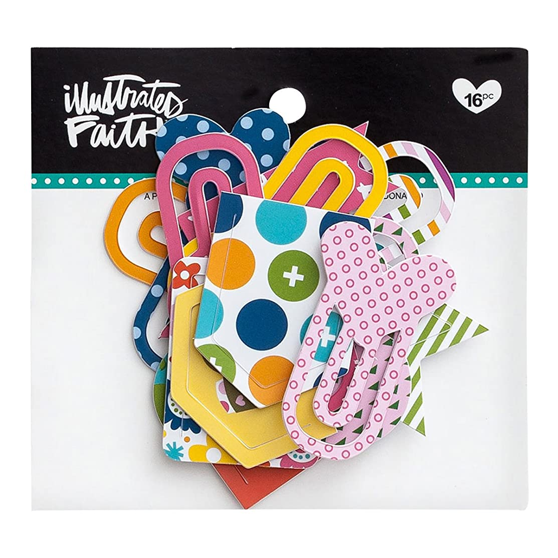 Illustrated Faith - Designer Paper Clips - Polka Dots