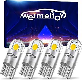 WEIMELTOY 194 LED Car Bulb 3030 Chipset 2SMD T10 194 168 W5W LED Wedge Light Bulb 1.5W 12V License Plate Light Courtesy St...