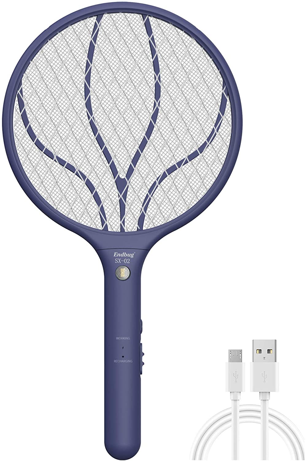 Endbug Rechargeable Fly Swatter Racket Bug with Zapper Handheld 2021 new Large special price
