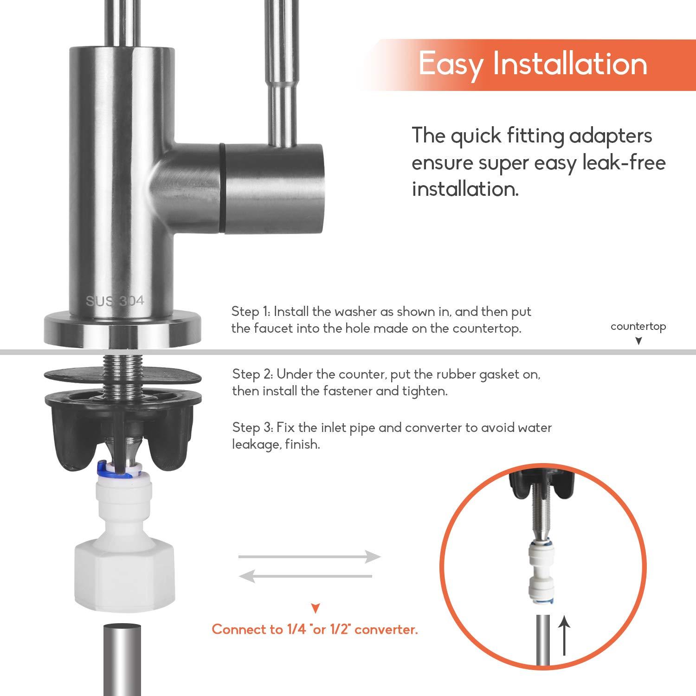Sistema de filtración filtro purificador de agua de grifo, grifo ...