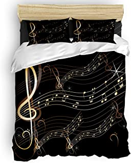 Orchestra Cartoon Print Details about  /Jazz Music Quilted Bedspread /& Pillow Shams Set