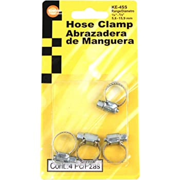 Koehler Enterprises KE4SS Hose Clamp Blister Pack, 4 Piece (Micro Size 4)