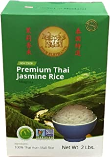 Four Elephants Premium Thai Jasmine Rice Certified Non-GMO 2 lbs