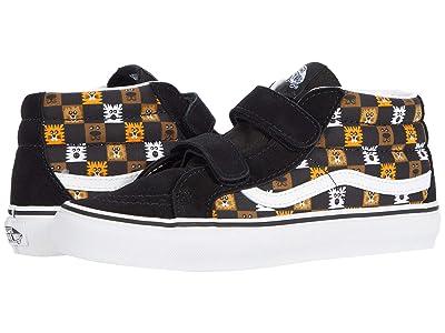 Vans Kids SK8-Mid Reissue V (Big Kid) ((Animal Checkerboard) Black/True White) Boys Shoes