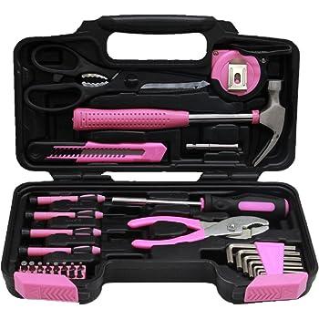 25 piezas Draper 36802 Juego de herramientas con bolsa color rosa