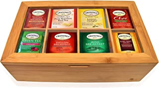 Twinings Tea Bags Sampler Assortment Box - 80 COUNT - Perfect Variety Pack in Bamboo Gift Box - Gift for Family, Friends, ...