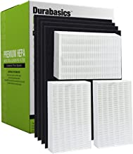 Durabasics HPA300 Compatible HEPA Filter Set | 3 HEPA Filters & 4 Pre-Cut Activated Carbon Pre Filters | Replacements for Honeywell Filter R and Pre-Filter A, HRF-R3, HRF-R2, HRF-R1, HRF-AP1 & HPA 300