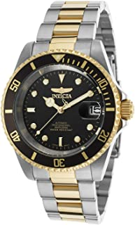 Invicta Men's 8927OB Pro Diver 18k Gold Ion-Plated and Stainless Steel Watch, Two Tone/Black