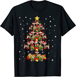 Chihuahua Christmas Tree Funny Tee Xmas Gift Chihuahua Dog T-Shirt