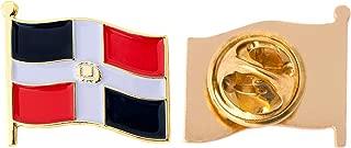 Dominican Republic Country Flag Lapel Pin Enamel Made of Metal Souvenir Hat Men Women Patriotic (Waving Flag Lapel Pin)