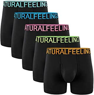 Men's Underwear Boxer Briefs Cotton Regular Long Mens Boxer Briefs Underwear Men Pack S M L XL XXL
