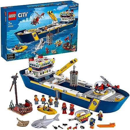 LEGO City Oceans Nave da Esplorazione Oceanica, Barca Giocattolo Galleggiante, Set Sottomarino per Bambini di 7 Anni, 60266