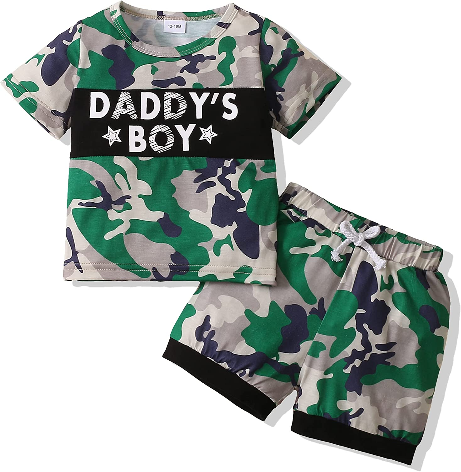 XUANHAO Baby Boy Clothes Infant Toddler Little Boys Clothes Hawaii Style Baby Boy Short Sets Tank Top + Short Pant 12M-5T