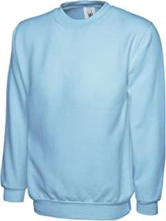 Uneek 300g Plain Classic Crewneck Sweatshirt -Navy - Large