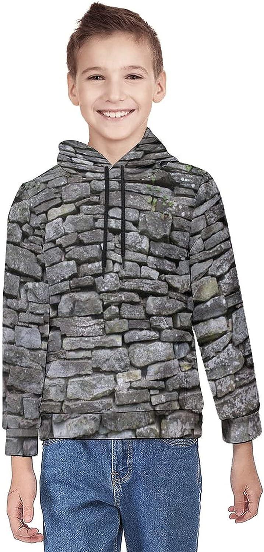 Kimisoy Kids' Hooded Vintage Stone Warm Girls Coat Soft Pullover Hoodie Sweatshirt