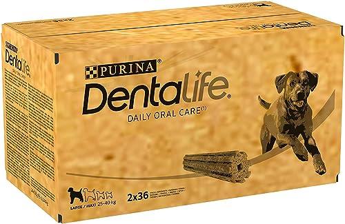 DENTALIFE - 72 Bâtonnets à mâcher pour chiens de grande taille (20 à 40 Kg)