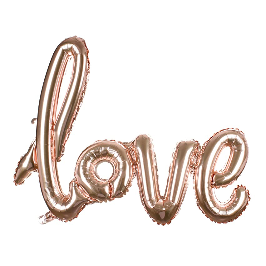 Odstore Love Balloon Banner - Champagne Celebration Balloon - 31.1 Inches Long (1pcs, Champagne)