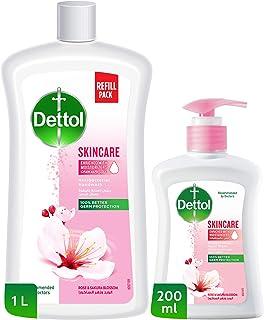 Dettol Skincare Anti-Bacterial Liquid Hand Wash – Refill Pack 1L + 200ML - Rose & Blossom