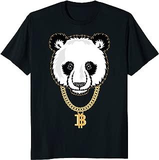 Funny Gangster Panda Bitcoin TShirt Cryptocurrency Tee Shirt