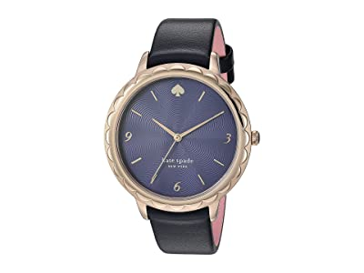 Kate Spade New York Morningside Leather Watch KSW1577 (Navy) Watches