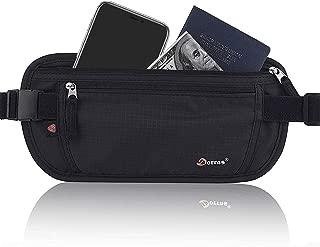 Money Belt, Hidden Passport Holder, Travel Wallet with RFID Blocking - Waist Pack & Fanny Pack for Women Men - Black