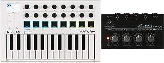 $132 » Arturia MiniLab MkII 25 Slim-key Controller + Behringer MicroAMP HA400 4-channel Headphone Amplifier Value Bundle
