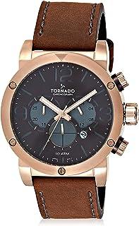 Tornado Men's Dail Leather Band Watch