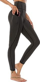 High Waist Yoga Pants Workout Running 4 Way Stretch Out Pocket Yoga Leggings