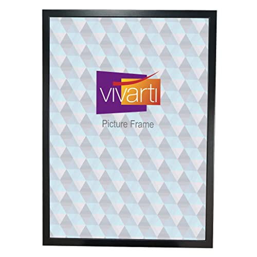 Vivarti Thin Matt Black Ready Made Picture Frame, A2 Size, 59.4 x 42 cm,
