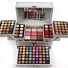 JasCherry Paleta de Sombras de Ojos 132 Colores de Maquillaje Set Kit de alta Calidad Cosmético - Incluye sombra de ojos y Corrector Camuflaje y Polvo compacto y Rubor polvo y Brillo labios