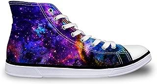 Casual High-top Mens Shoe 3D Galaxy Star Flats Footwear Breath