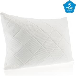 MEWE Shredded Memory Foam Pillow Soft Bed Pillow Neck Support Pillows Bed Hypoallergenic Orthopedic Ergonomic Pillow Adjustable Shredded with Washable Removable Cover Queen(White-2, 20 x 28 inch)