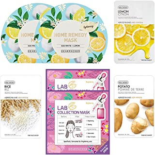 The Face Shop Unisex Instant Brightening Mask Sheet Combo (140 g) - Pack of 7