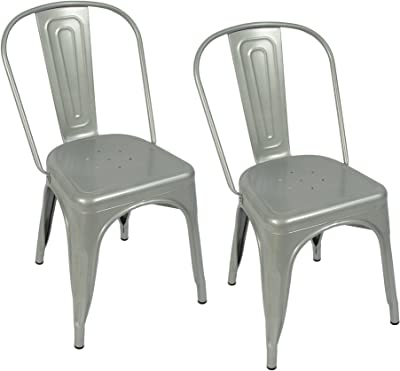 Amazon.com: GIA MC45K-ANTIBK_DWOOD_4 High Back Metal Chair ...