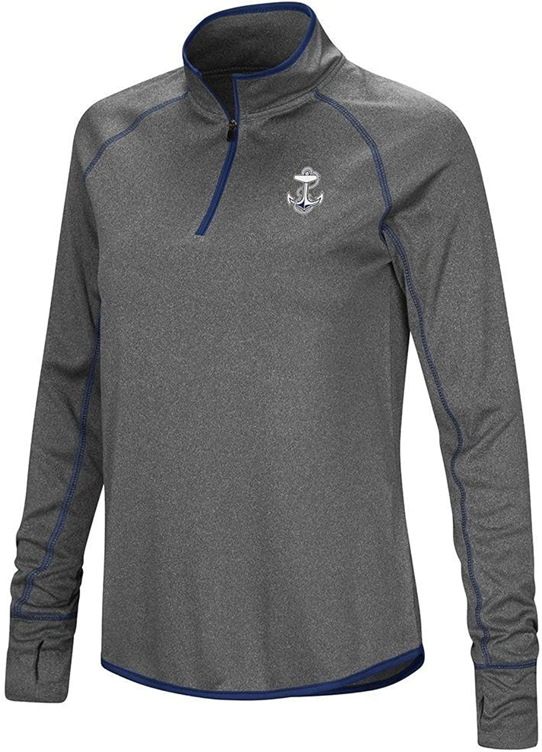 Colosseum Womens Navy Midshipmen Quarter Zip Wind Shirt