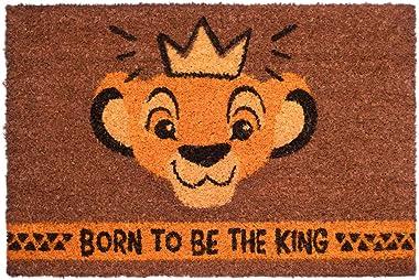 Grupo Erik Disney Lion Born to Be The King Door Mat, Coconut Coir, Multicolour, 40 x 60 cm