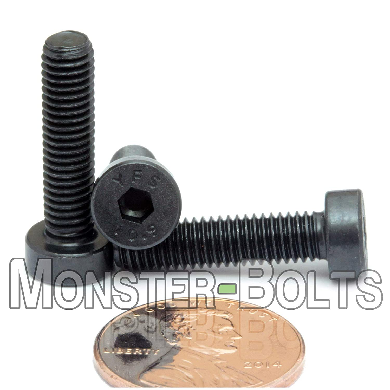 Qty 10 Low Head Socket Cap Screws M5-0.80 x 12mm DIN 7984 Blk Alloy 10.9
