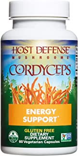 Host Defense, Cordyceps Capsules, Energy and Stamina Support, Daily Dietary Supplement, USDA Organic, 60 Vegetarian Capsul...